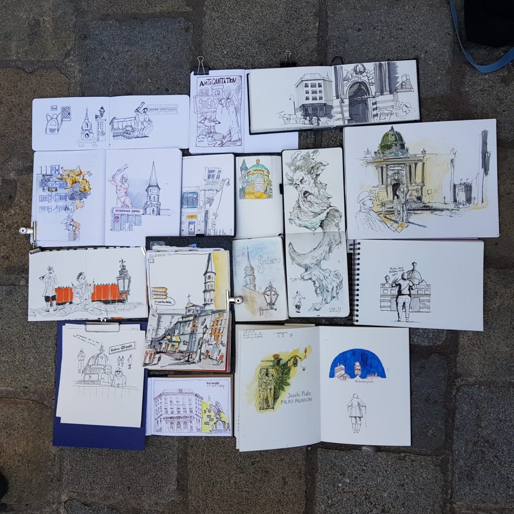 Urban Sketchers Workshop Vienna September 2019