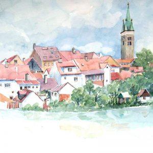 Rosi Grieder-Bednarik unterwegs in Südmähren/Vysočina mit Dana und Jindra